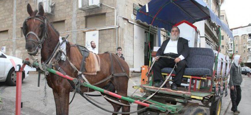 במקום המשאיות: הסוסים נרתמים לחלוקה
