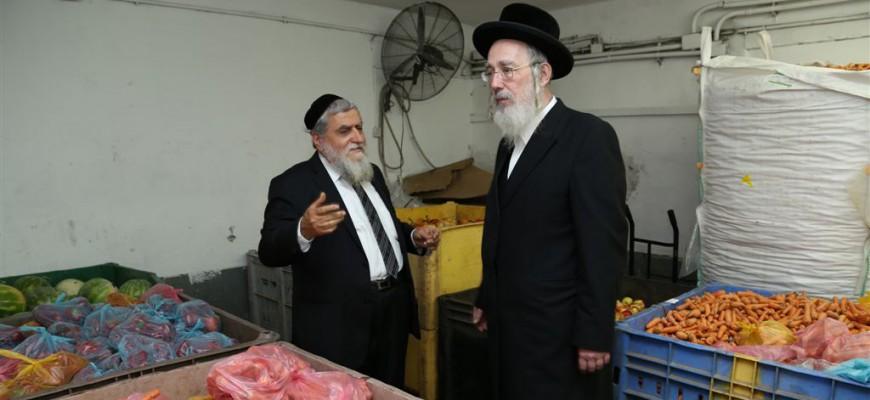 """ביקור מיוחד של הרב ח""""כ ישראל אייכלר בחסדי נעמי"""