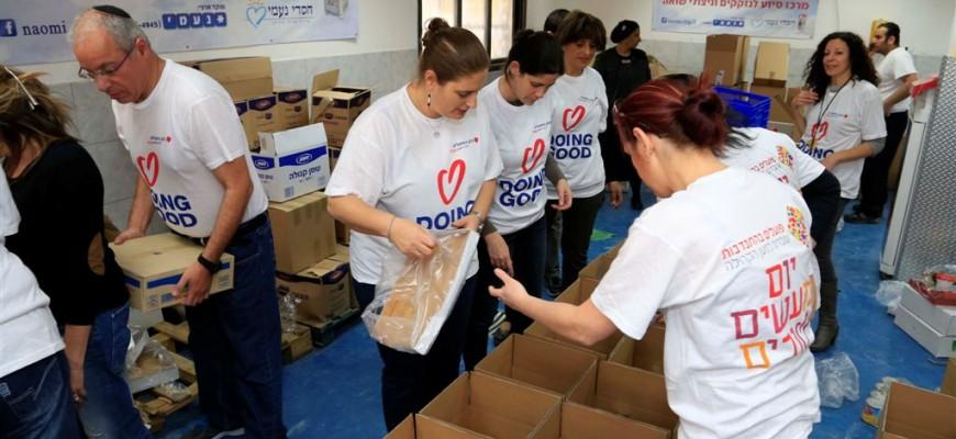 """אלפי מתנדבים במרכזי חסדי נעמי ב""""יום המעשים הטובים"""""""